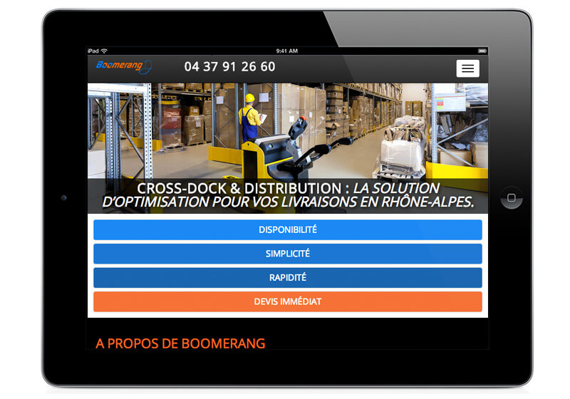 Engagements du transporteur express Lyonnais Transport Boomerang